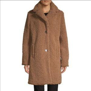 NWOT pure navy faux fur teddy coat